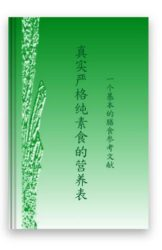 Authentic Vegan Nutritional Tables: An Essential Dietary Reference released to the global market in simplified Chinese language in March 2017
